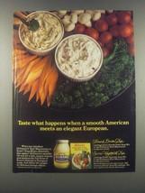 1985 Hellmann's Mayonnaise & Knorr Vegetable Soup Ad - $14.99