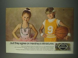 1985 Hershey's Miniatures Ad - but they agree on Hershey's Miniatures - $14.99