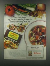 1985 Knorr Homestyle Soup Hearty Minestrone Ad - $14.99