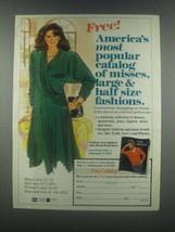 1985 Lane Bryant Fashion Ad - America's Most Popular - $14.99