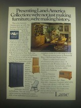 1985 Lane America's Collection Furniture Ad - History - $14.99