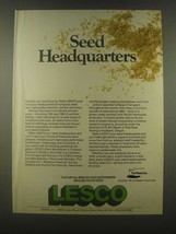 1985 Lesco Turfgrass Seed Ad - Seed Headquarters - $14.99