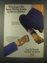 1985 Levi's 505 and Super Jeans Ad - Cut for Women - $14.99