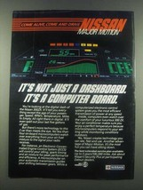 1985 Nissan 300ZX Car Ad - It's Not Just a Dashboard - $14.99