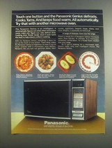 1985 Panasonic Genius Microwave Ad - Touch One Button - $14.99