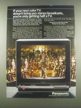 1985 Panasonic CTF-2077R TV Ad - San Francisco Opera  - $14.99