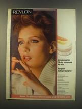 1985 Revlon European Collagen Complex Ad - $14.99