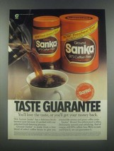 1985 Sanka Coffee Ad - Taste Guarantee - $14.99