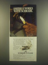 1985 Schrade Maverick 124UH and Pioneer 1230T Knives Ad - $14.99