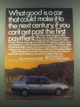 1985 Volkswagen Jetta Ad - What Good Is a Car - $14.99