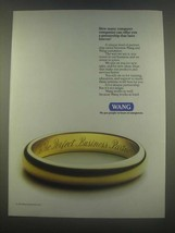 1985 Wang Computers Ad - Partnership Lasts Forever - $14.99