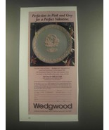 1985 Wedgwood Valentine's Plate Ad - Pink and Grey - $14.99