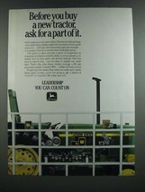 1986 John Deere Tractor Parts Ad - Before You Buy a New Tractor Ask for a Part - $14.99
