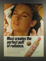 1986 Max Factor Maxi Endless Sun Radiant FaceColor Mousse Ad - $14.99