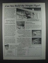 1986 Model Expo Ad - Wright Flyer, Sopwith F1 Camel, Fokker DR1 Triplane... - $14.99