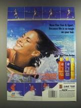 1986 Revlon Flex Sun & Sport Shampoo, Conditioner and Mousse Ad - $14.99