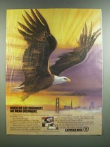 1986 USPS Express Mail Overnight Service Ad - We Mean Overnight - $14.99