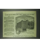 1884 New England Conservatory of Music Ad - Best Appointed - $14.99