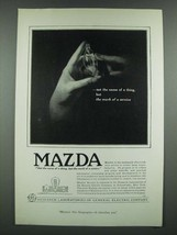 1919 General Electric Mazda Lamps Ad - The Mark of a Service - $14.99