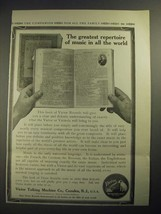 1913 Victor Records Ad - The Greatest Repertoire of Music - $14.99