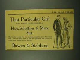 1915 Bowen & Stebbins Hart, Schaffner & Marx Suit Ad - $14.99