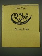 1915 Cyko Paper Ad - Prints at Night - $14.99