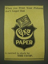 1915 Cyko Paper Ad - When You Print Your Pictures Don't Forget - $14.99