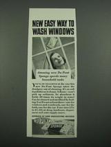1938 Du Pont Sponge Ad - New Easy Way to Wash Windows - $14.99
