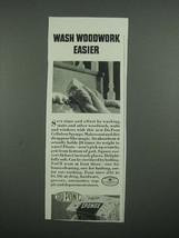 1938 Du Pont Sponge Ad - Wash Woodwork Easier - $14.99