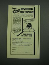 1938 Gilbert Hall of Science Mysterious Erectorscope Ad - $14.99