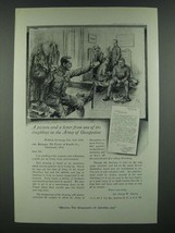1919 Ivory Soap Ad - Picture and Letter of Doughboys in Army of Occupation - $14.99