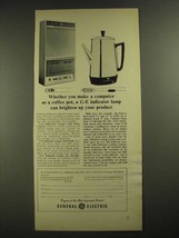 1965 General Electric Indicator Lamps Ad - Computer or Coffee Pot - $14.99