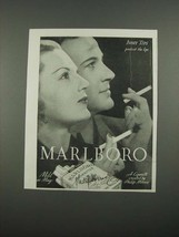 1938 Marlboro Cigarettes Ad - Tips Protect the Lips - $14.99