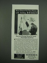 1938 Meyercord Decal Transfers Ad - New Charm For Your Home - $14.99