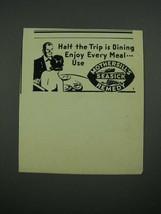 1938 Mothersills Seasick Remedy Ad - Half The Trip is Dining - $14.99