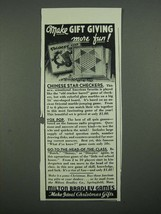 1938 Milton Bradley Game Ad - Chinese Checkers, Vox Pop - $14.99