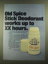 1977 Old Spice Stick Deodorant Ad - Works Up to XX hours - $14.99