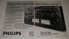 1979 Philips Ad - in German - Digital Tuner 180, Pre Amplifier 280 - $14.99