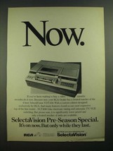 1979 RCA SelectaVision VDT350 Video Cassette Recorder Ad - $14.99