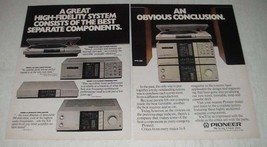 1982 Pioneer Ad - PL-L800 Turntable, CT-9R Cassette Deck, F-9 Tuner - $14.99