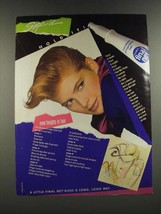 1986 Clairol Final Net Hair Spray Ad - Style It Hold It! - $14.99