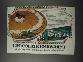 1986 Nestle Mint-Chocolate Morsels Ad - Chocolate Mint Mousse Pie recipe - $14.99