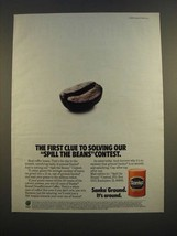 1986 Sanka Ground Coffee Ad - Our Spill The Beans Contest - $14.99
