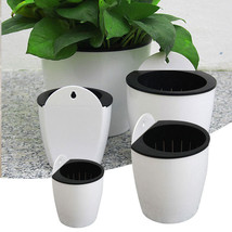 Self Watering Flower Pot Plant Planter Garden Home Wall Hanging Plastic ... - $7.67 CAD+