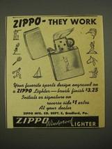 1948 Zippo Windproof Lighter Ad - They Work - $14.99