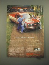 1987 GMC Sierra Club Coupe Truck Ad - Welcome to the Club - $14.99