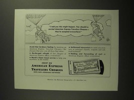 1954 American Express Travelers Cheques Ad - I Told You - $14.99