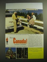 1954 Canada Tourism Ad - Long and Lovely Coastlines - $14.99