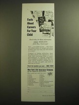 1955 New York Life Insurance Ad - Facts About Careers For Your Child - $14.99