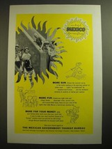 1955 Mexican Government Tourist Bureau Ad - $14.99